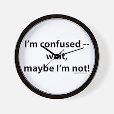 Unique Confusion Wall Clock