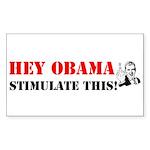 Hey Obama Stimulate This Rectangle Sticker 50 pk)