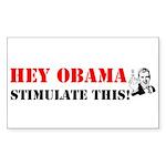 Hey Obama Stimulate This Rectangle Sticker