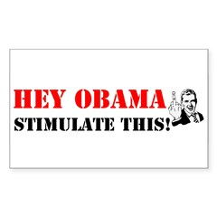 Hey Obama Stimulate This Rectangle Decal
