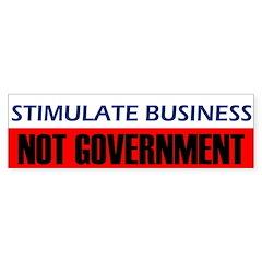 Stimulate Business Not Govern Bumper Sticker