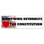 Right Wing Extremists Love Th Sticker (Bumper 10 p