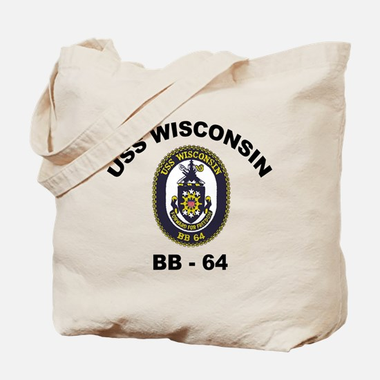 USS Wisconsin BB 64 Tote Bag