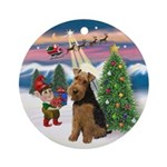 Christmas Tree Welsh Terrier Ornament (Round)