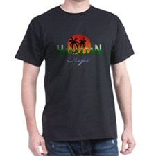 Black Hawaiian Style T-Shirt