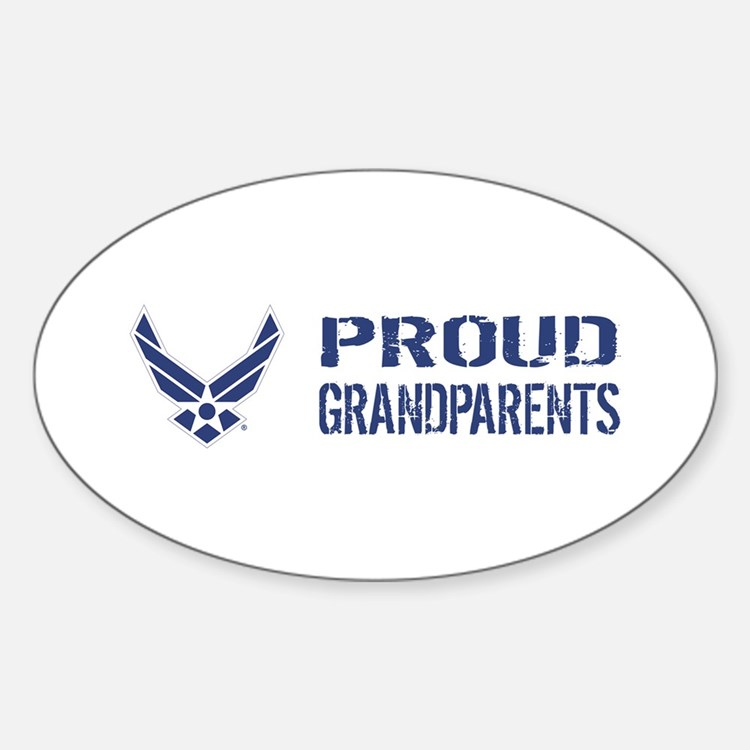 USAF: Proud Grandparents Sticker (Oval)