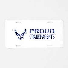 USAF: Proud Grandparents Aluminum License Plate