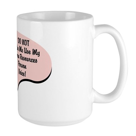 Human Resources Person Voice Large Mug
