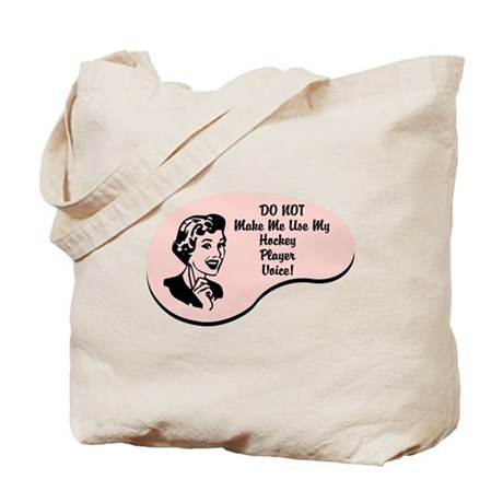 Hockey Player Voice Tote Bag