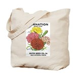 Vintage Carnation Seed Label Tote Bag