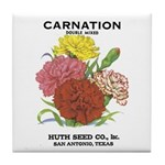 Vintage Carnation Seed Label Tile Coaster