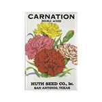 Vintage Carnation Seed Label Rectangle Magnet