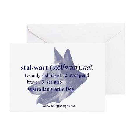 Stalwart--Australian Cattle D Greeting Cards (Pack