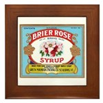 Vintage Syrup Label Framed Tile