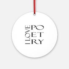 Poetry Ornament (Round)