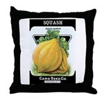 Vintage Seed/Produce Labels Throw Pillow