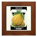 Vintage Seed/Produce Labels Framed Tile