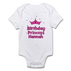 1st Birthday Princess Hannah! Infant Bodysuit