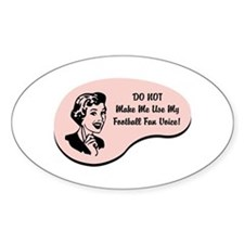 Football Fan Voice Oval Decal
