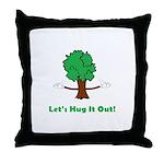 Tree Hugger Throw Pillow