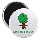 """Tree Hugger 2.25"""" Magnet (10 pack)"""