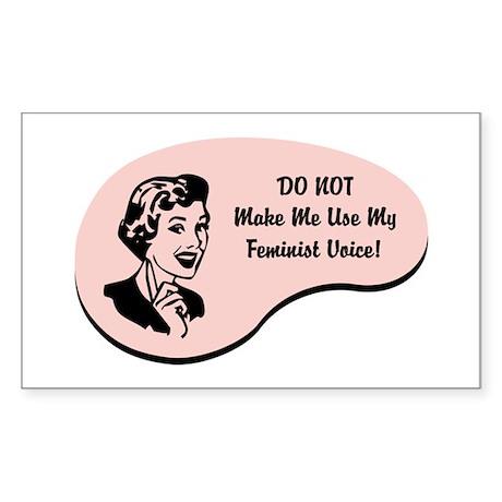 Feminist Voice Rectangle Sticker