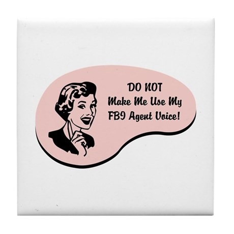 FBI Agent Voice Tile Coaster
