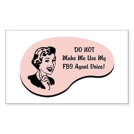 FBI Agent Voice Rectangle Sticker