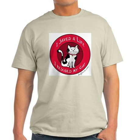 I Rescued My Cat Ash Grey T-Shirt