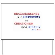 REAGANOMICS Yard Sign