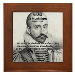 Individual Freedom Montaigne Framed Tile