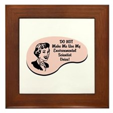 Environmental Scientist Voice Framed Tile