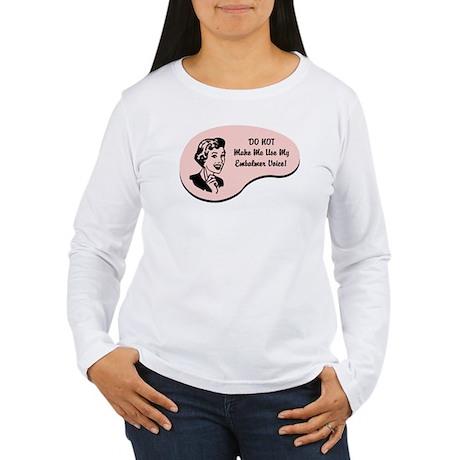 Embalmer Voice Women's Long Sleeve T-Shirt