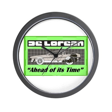 """DeLorean-Ahead of its Time"" Wall Clock"