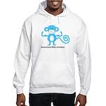 Tenacious Little Monkey (Blue) Hooded Sweatshirt