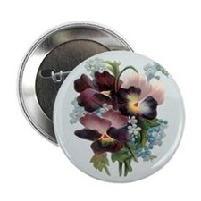 "Pansy Bouquet 2.25"" Button (10 pack)"
