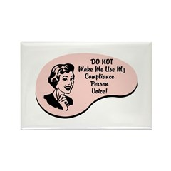 Compliance Person Voice Rectangle Magnet (100 pack