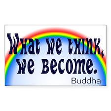 Rainbow Buddha Quote Decal