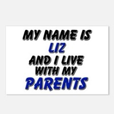 my name is liz and I live with my parents Postcard