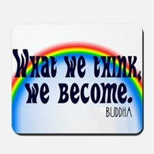 Rainbow Buddha Quote Mousepad