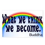 Rainbow Buddha Quote Postcards (Package of 8)