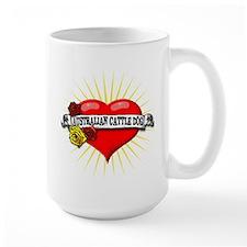 Australian Cattle Dog Heart Mug