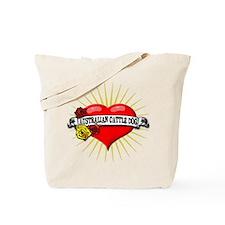 Australian Cattle Dog Heart Tote Bag