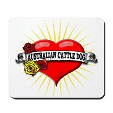 Australian Cattle Dog Heart Mousepad