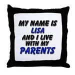 my name is lisa and I live with my parents Throw P