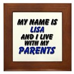my name is lisa and I live with my parents Framed
