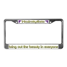 Hairstylist License Plate Frame