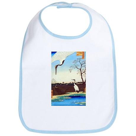 """Hiroshige's """"Cranes"""" Bib"""