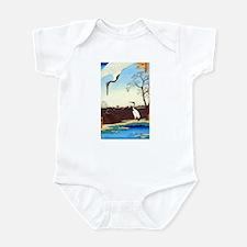 "Hiroshige's ""Cranes"" Infant Bodysuit"