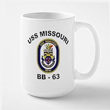 USS Missouri BB 63 Large Mug